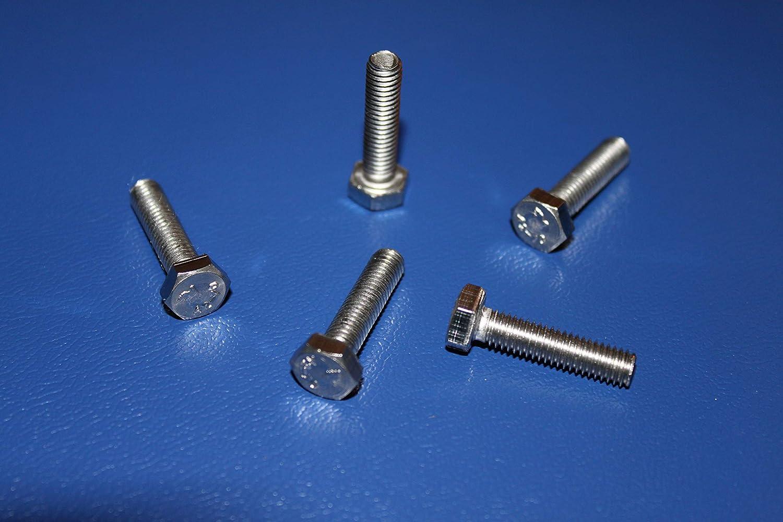 5 St/ück Sechskant Schrauben M8x30 mm Vollgewinde 5, M8x30 mm V2A DIN 933 A2 Edelstahl Sechskantschrauben