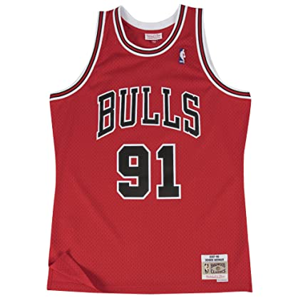 0abd5d63371 Image Unavailable. Image not available for. Color  Mitchell   Ness Dennis  Rodman Chicago Bulls NBA Throwback HWC Jersey ...