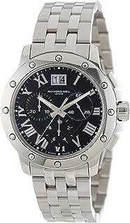 Raymond Weil Mens 4899-ST-00208 Tango Stainless Steel Black Chronograph Watch