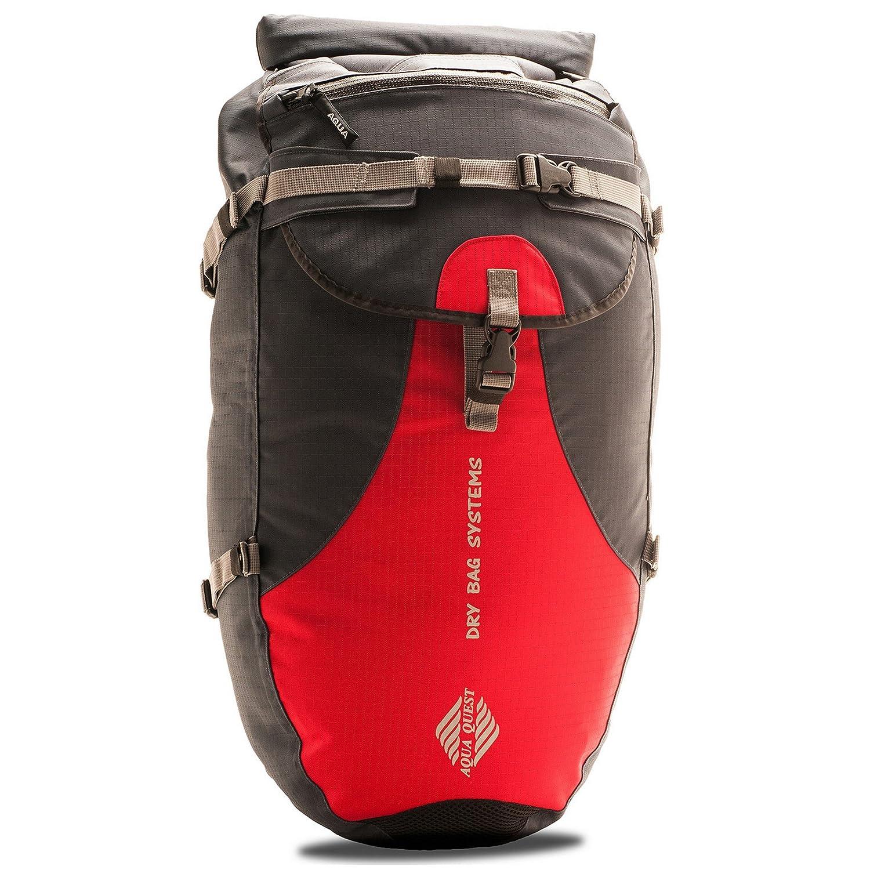 Amazon.com  Aqua Quest STYLIN Gray Waterproof Backpack Dry Bag 30L for  Fishing c6b78c7ce20e2