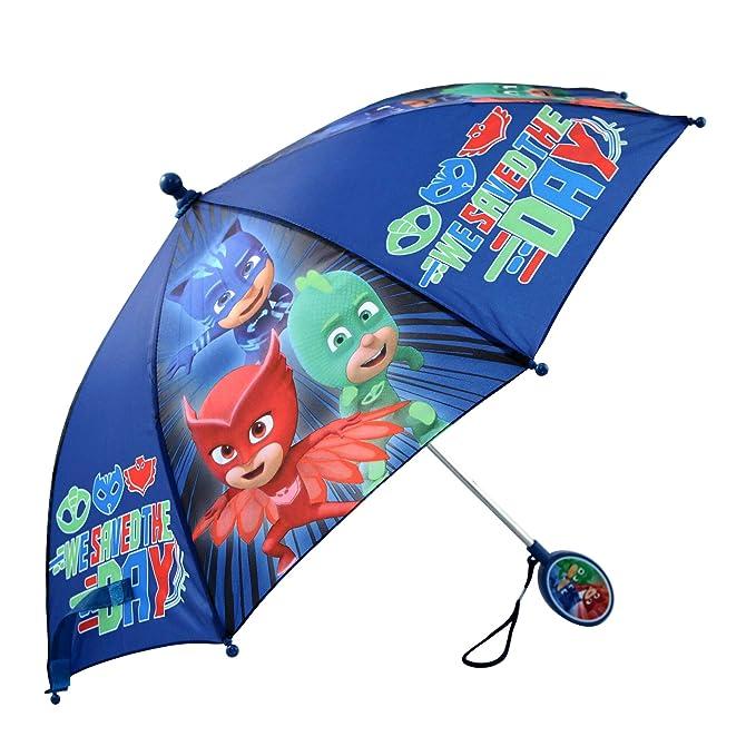 Disney Little Boys PJ Masks Assorted Character Rainwear Umbrella, Blue, ...