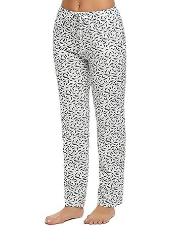 8c99393931ce4 Ekouaer Sleep Pants Woman Plus Size Printed Pjs Bottoms Loungewear   Amazon.co.uk  Clothing
