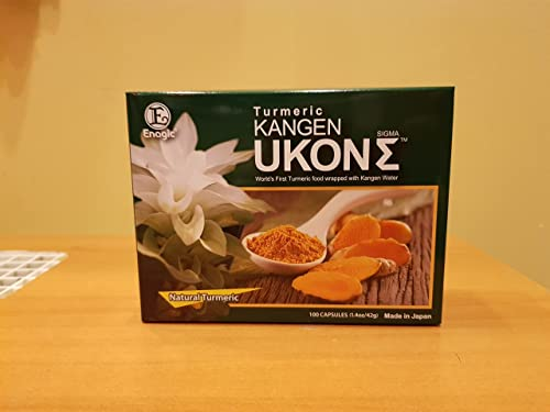 ORGANIC KANGEN UKON SIGMA TURMERIC SUPER ANTI-OXIDIXING DIETARY SUPPLEMENT 100 Capsules