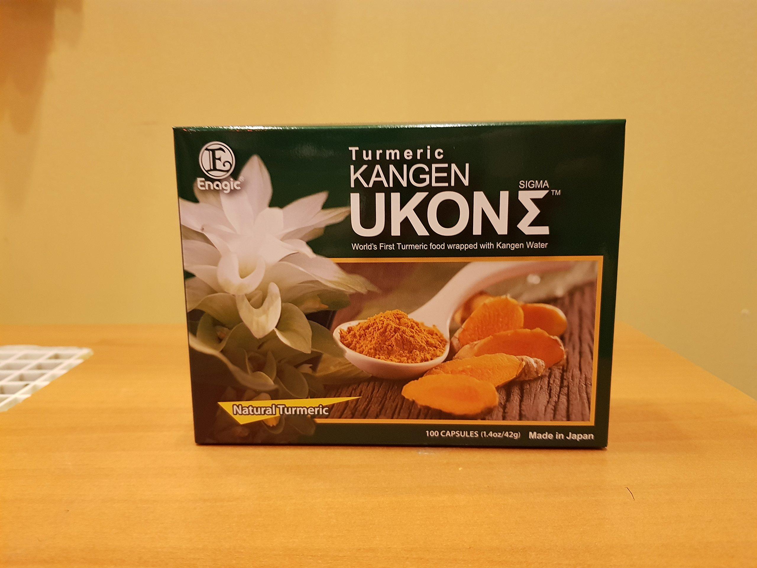 ORGANIC KANGEN UKON SIGMA TURMERIC (SUPER ANTI-OXIDIXING DIETARY SUPPLEMENT) 100 Capsules