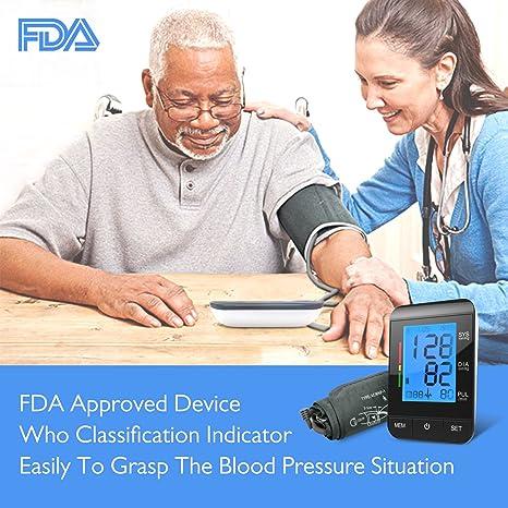 Tensiometro de brazo digital Electrónico tension arterial Monitor de Presión Arterial et Ultra-delgado Certificado por CE, FDA: Amazon.es: Salud y cuidado ...