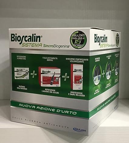 Bioscalin Sistema Mujer - Tratamiento Anticaída de cabello. Comprimidos + Ampollas + Champú. Edición