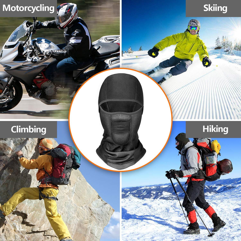 Cycling YINXN Balaclava Mask Black-A Winter Ski Mask Balaclava Face Mask Windproof Fleece Tactical Motorcycle Cycling Motorbile Balaclava Face Mask For Men Skiing Women Snowboarding /…