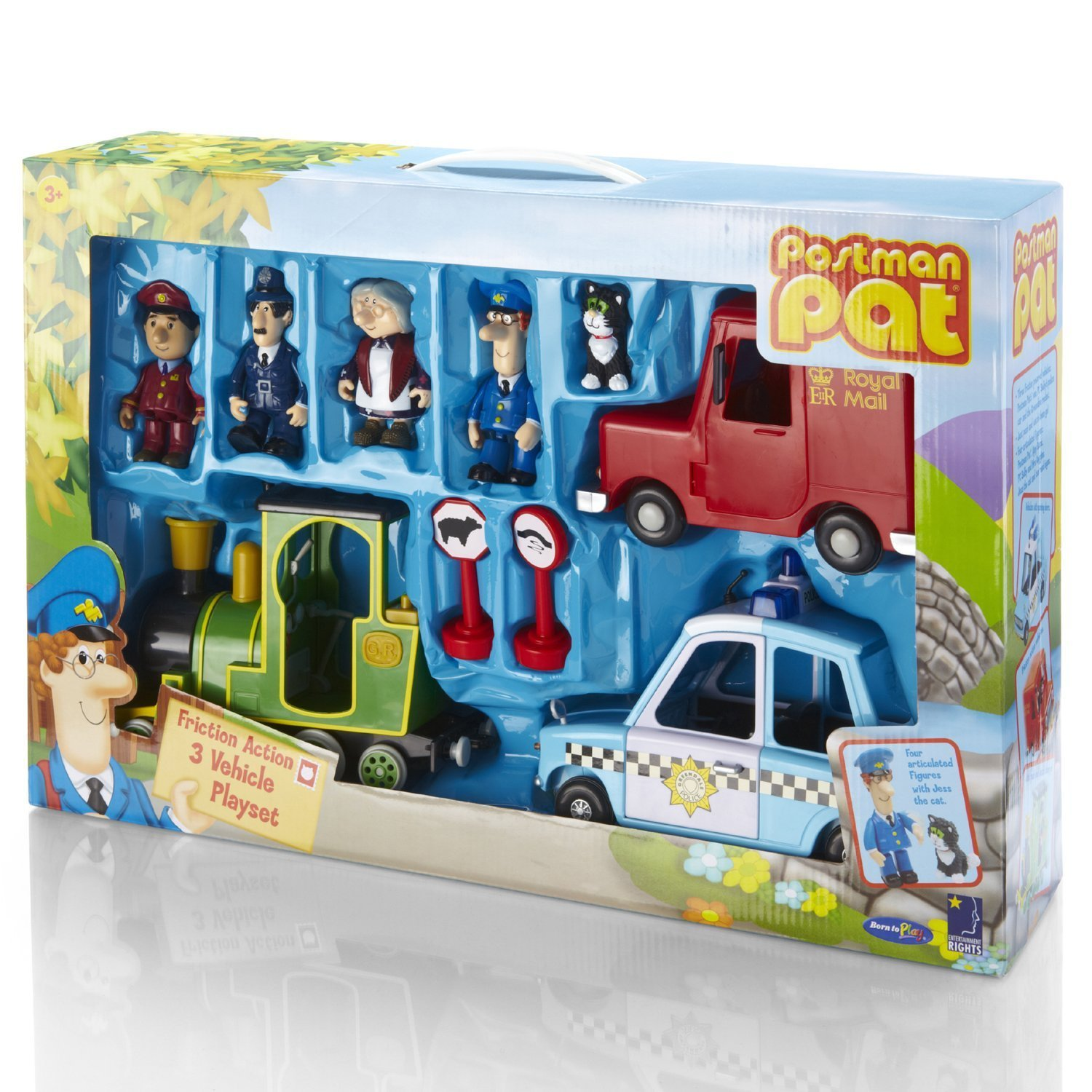 Good Quality Postman Pat Friction Action 3 Vehicle Playset Choicefullbargain