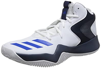 adidas uomini pazzi squadra ii ftwwht, blu, conavy scarpe da basket 9