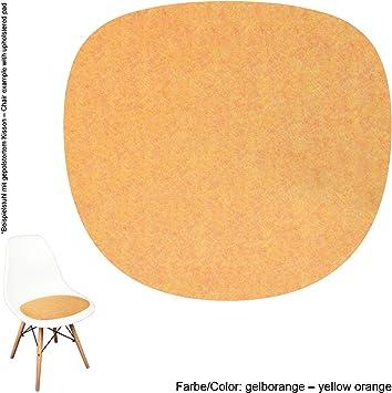 noe Eco Coussin en Feutre 4 mm 22 Couleurs avec Tapis antid/érapant Convient pour Vitra Eames Sidechair DSW Aubergine DSS DSR 40x37cm DSX