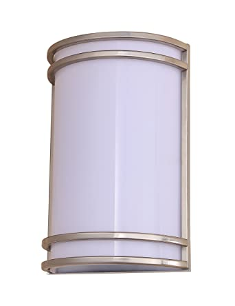 Lb75110 15w Led Outdoor Wall Sconce Lighting 10 Inch Half Cylinder