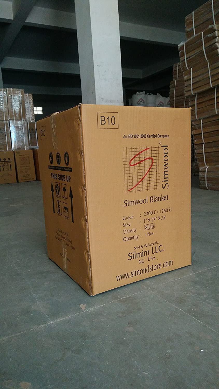 "Forge Ceramic Fiber Insulation Blanket 2600F 6LB 1/""x24/""x25/' for Furnace Kiln"