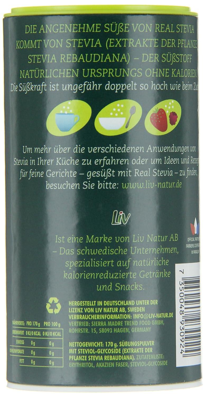 Real Stevia Real Stevia Streusüße, 1er Pack (1 x 170 g): Amazon.de ...