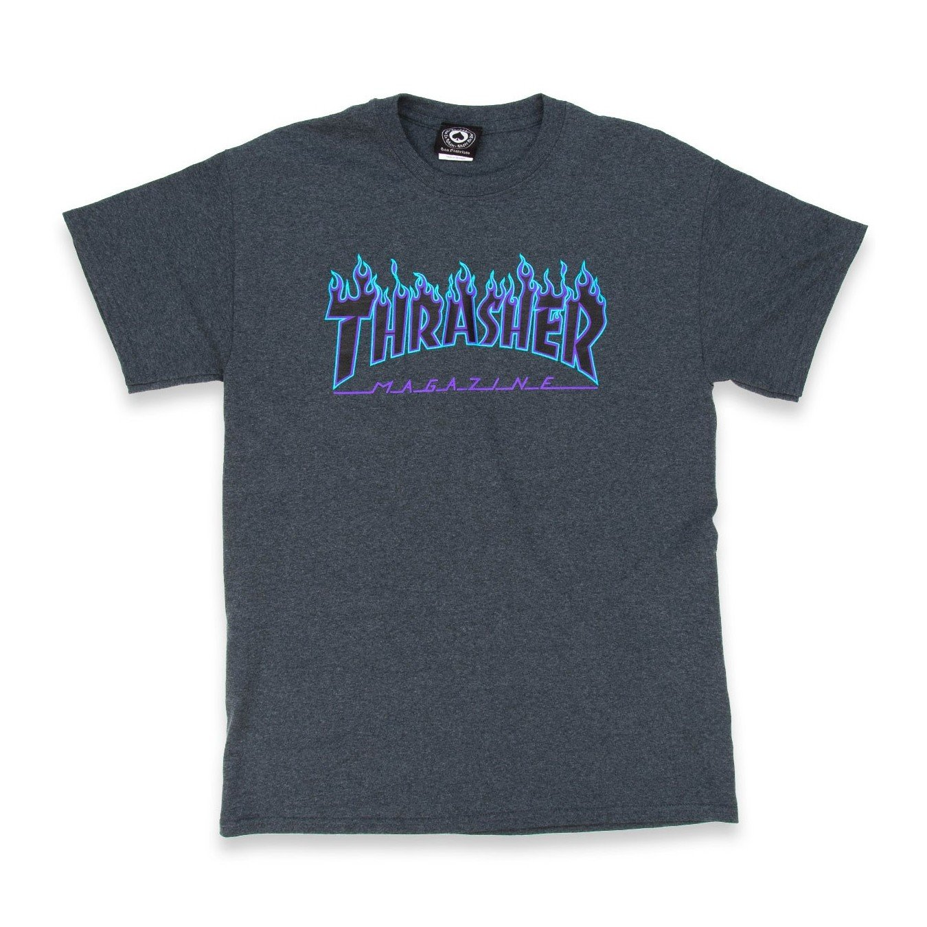Thrasher Flame T-Shirt (Small, Dark Heather)