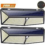 VOOE Luz Solar Exterior [288 LED - USB Recargable] Luces led Solares Exteriores con PIR Sensor de Movimiento Foco Solar…