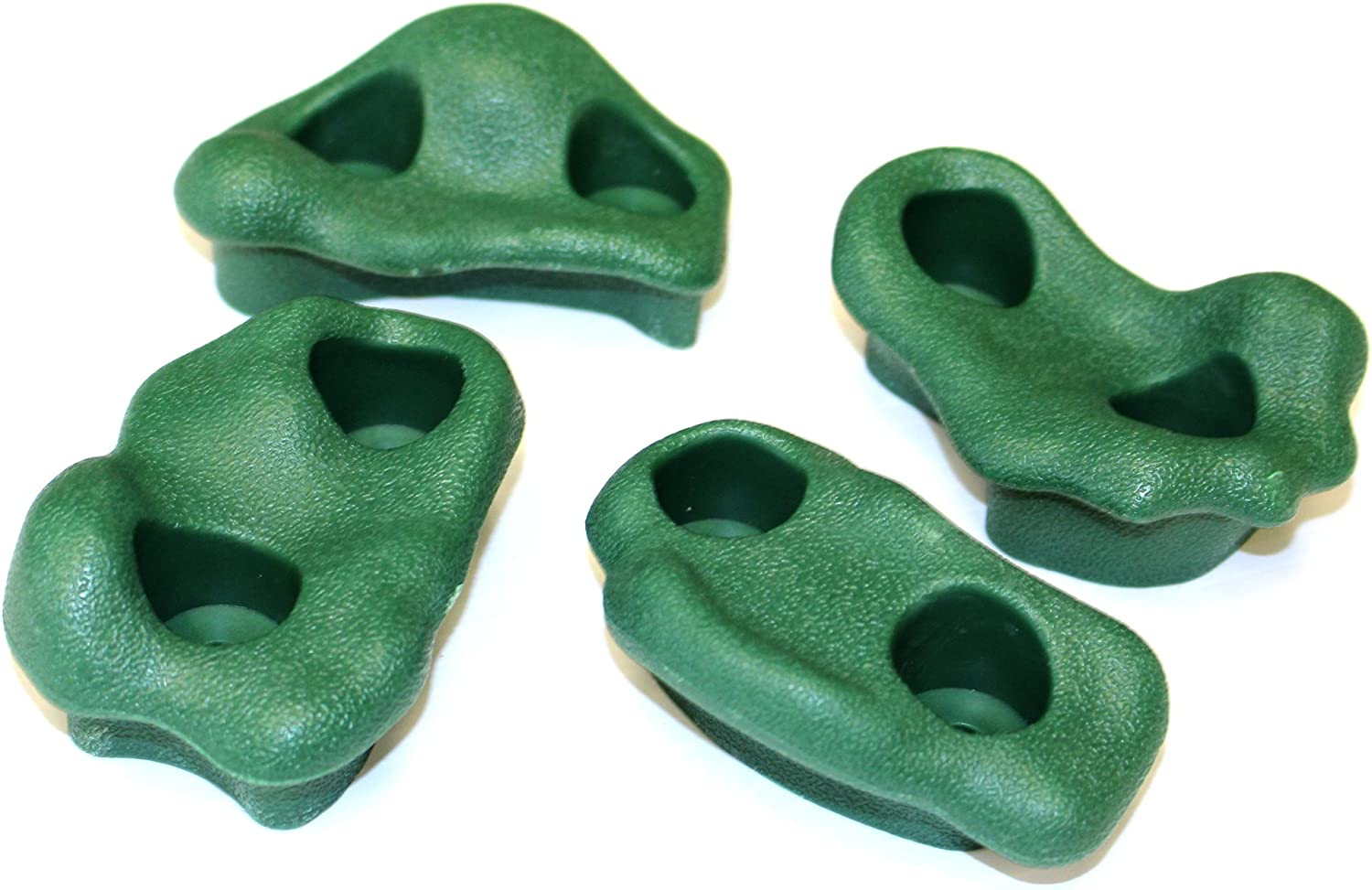 Eastern Jungle Gym Pack of 12 Large Textured Playground Rock Wall Climbing Hand Holds for Kids Green with Safe Mounting Hardware