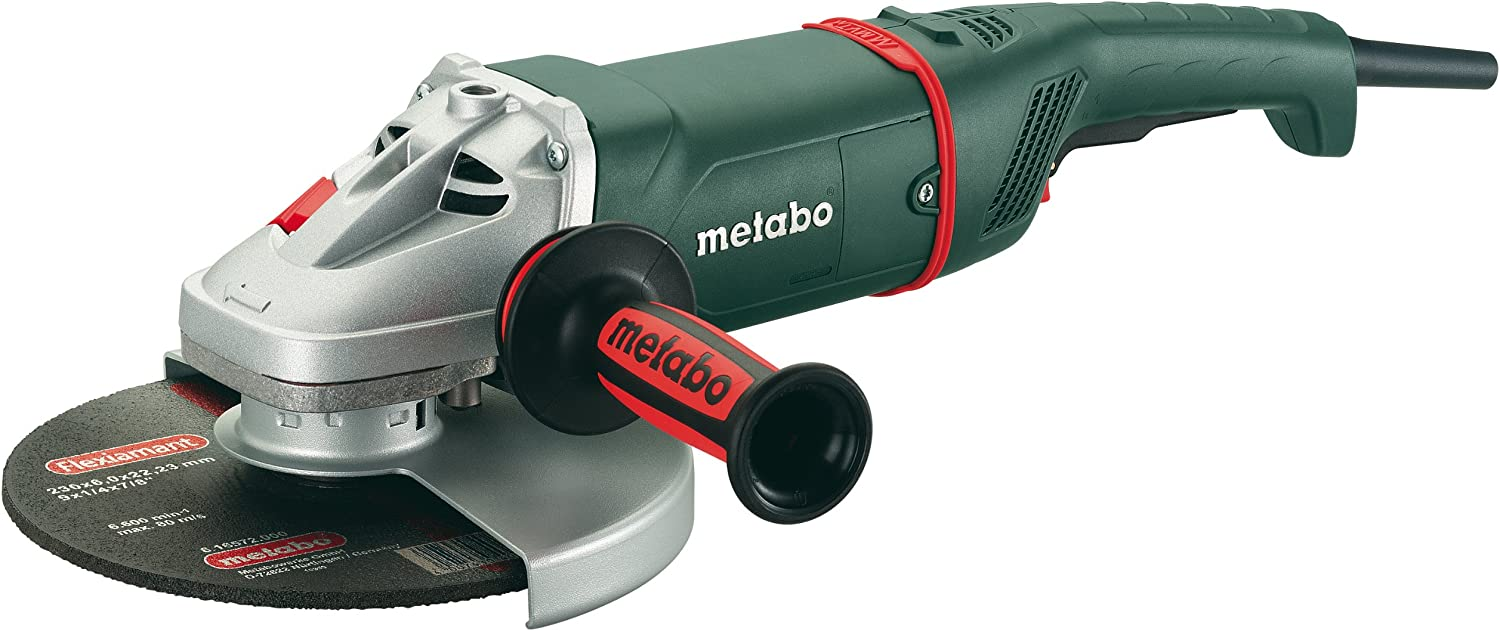 Metabo W24-230 6,600 RPM 15.0 AMP 9-Inch Angle Grinder