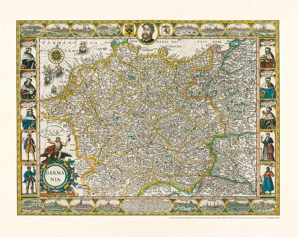 alte landkarte deutschland Historische Karte: Deutschland   Germania, Reprint 1607: Amazon.co