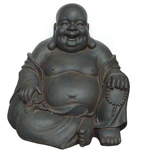 Hi-Line Gift Ltd 24-Inch Happy Sitting Buddha Statue, Large