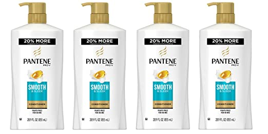 Pantene Pro-V Smooth and Sleek Conditioner, 28.9 Fluid Ounce (Pack of 4),Packaging May Vary