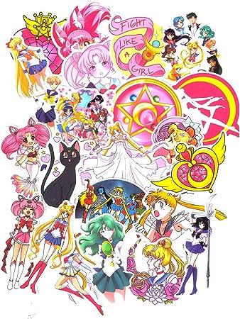 SET PRODUCTS Top Pegatinas! Juego de 75 Pegatinas de Sailor Moon Vinilos: Amazon.es: Electrónica