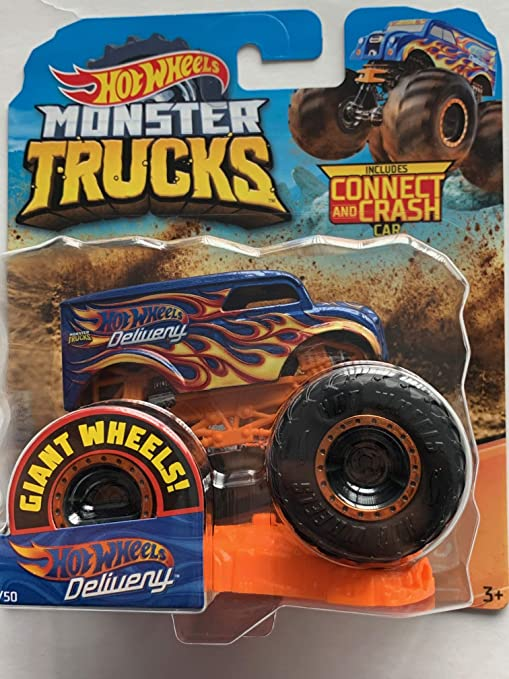 Amazon Com Hot Wheels 2019 Monster Trucks Giant Wheels Dairy Delivery 1 64 Kitchen Dining