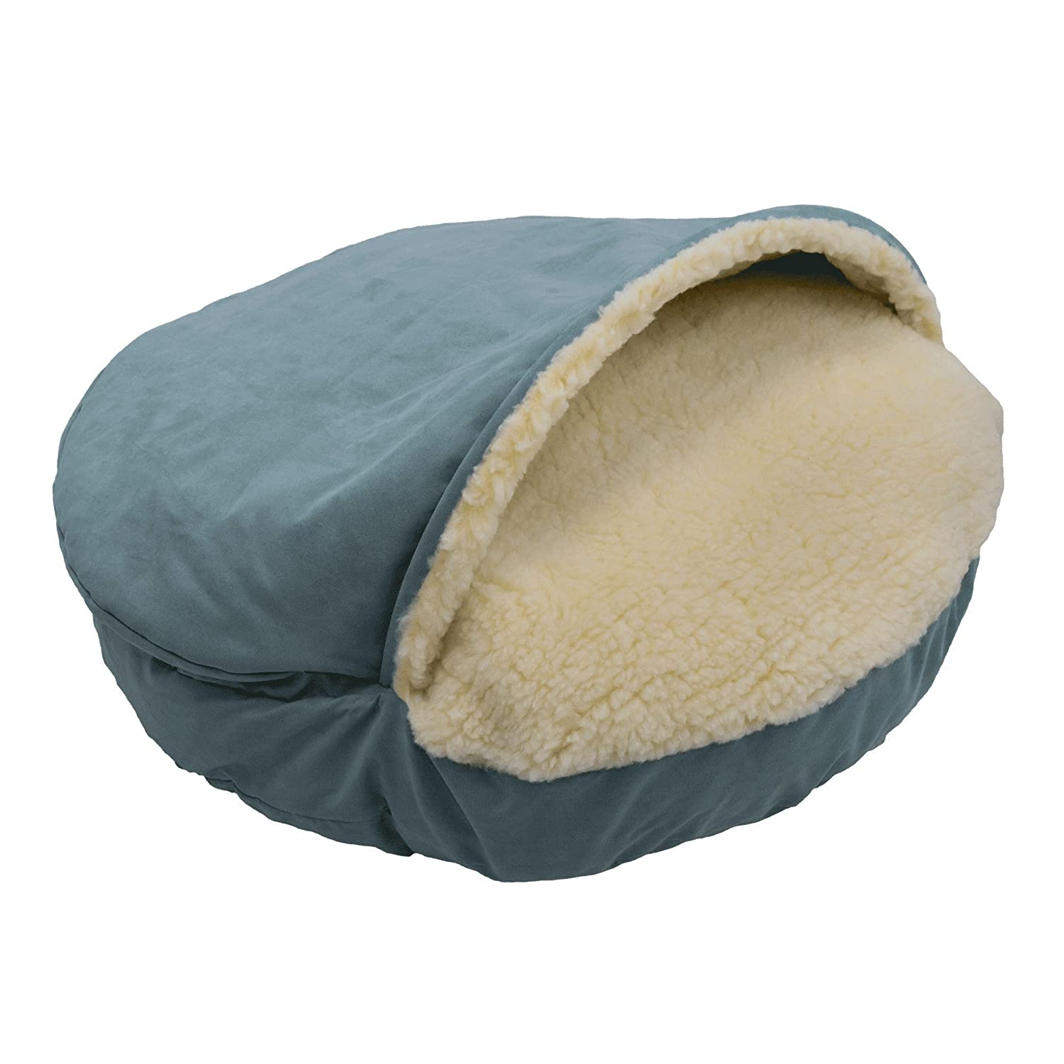 Aqua Large Aqua Large Snoozer Pet Products Luxury Cozy Cave Dog Bed with Microsuede   Large Aqua