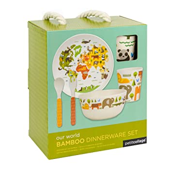 Petit Collage Dinnerware Set, World