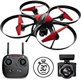 Force1 Drones with Camera - U49C Red Heron Camera Drone for Kids and Adults with 720p RC Drone Camera + Drone Video Camera SD Card Drone Kit