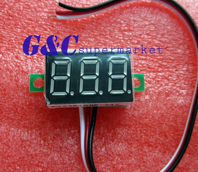 10PCS two-wire  0.36` GREEN  LED DC Digital Voltmeter Panel Meter DC 0-32V M14