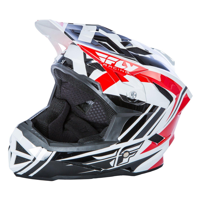 Fly Racing Downhill-MTB Helm Default Rot Schwarz Weiß