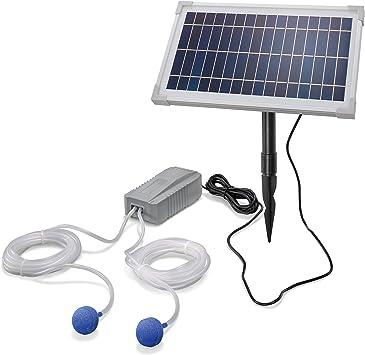 Esotec Pro 101845 - Ventilador solar para estanque (8 W, 200 l/h ...