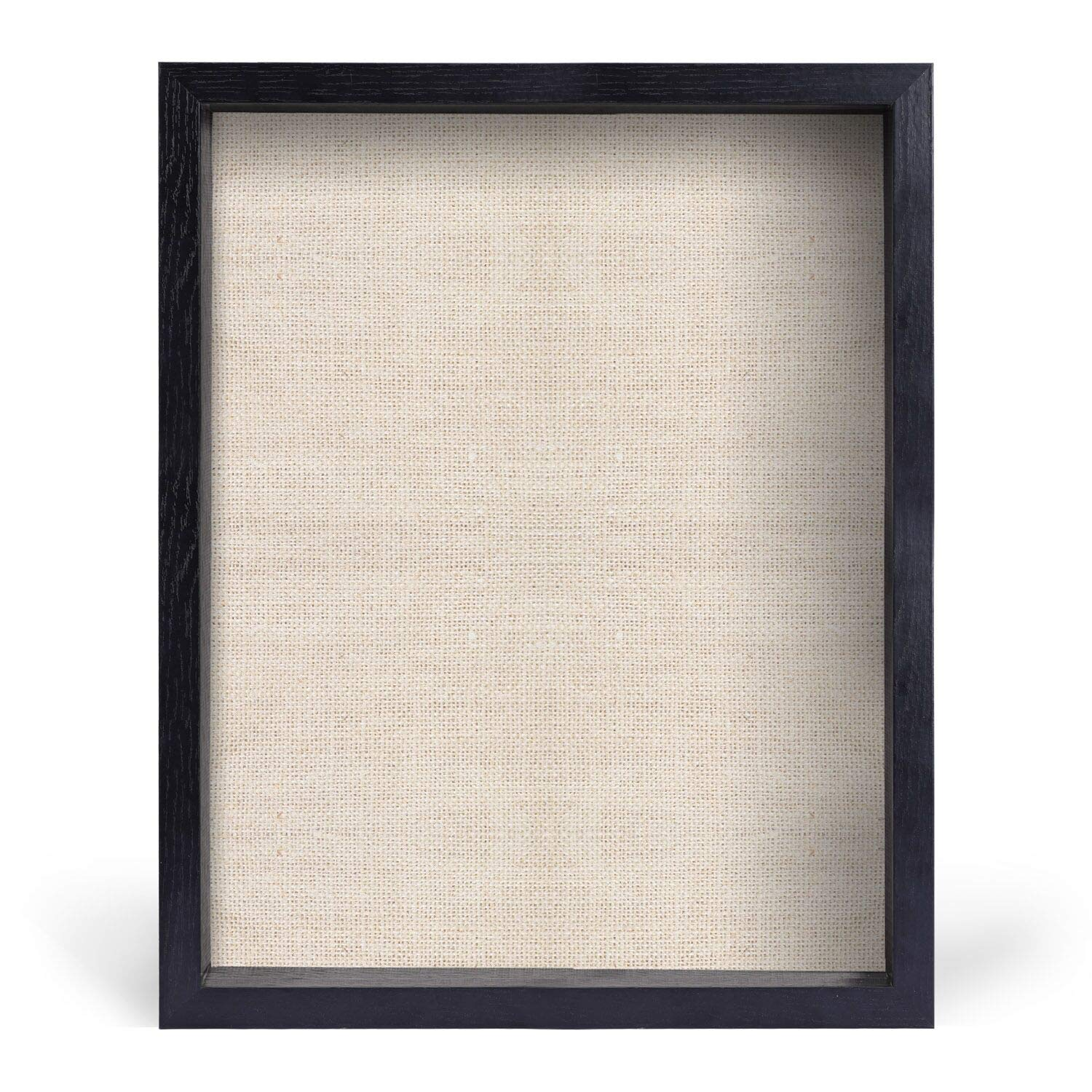 12x15 Shadow Box Frame with Soft Linen Back - Box Display Picture Frame for Memorabilia, Pins, Awards, Medals, Tickets and Photos