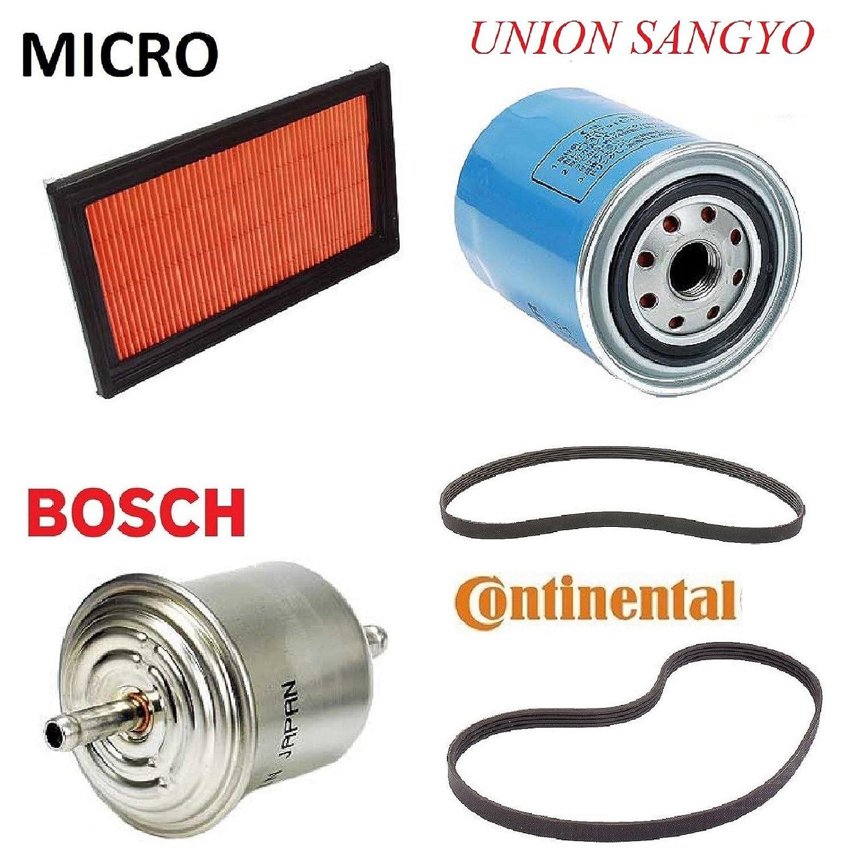 Tune Up Kit Air Oil Fuel Filters Belt For Nissan Sentra 2001 Filter L4 16l W A C Ga16de Eng 1995 1999 Automotive