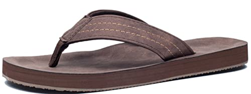 c40df9c8b50d VIIHAHN Men s Flip Flops Summer Beach Sandals Lightweight EVA Sole  Classical Comfortable Extra Large Size Wide Platform Thong Fashion Arch  Support Non-Slip ...