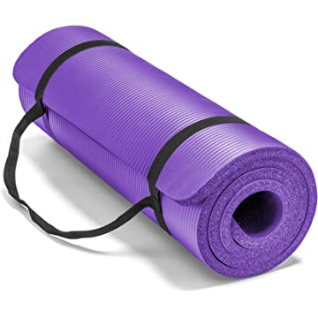 powerful Spoga Premium Extra Thick 71-Inch Long High Density Exercise Yoga Mat with Comfort Foam and Carrying Straps