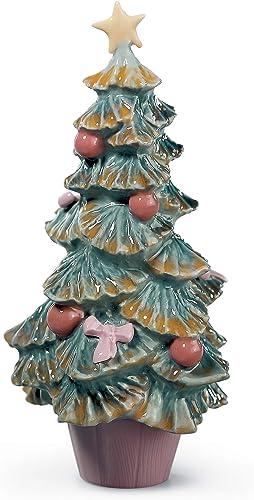 LLADR Christmas Tree Figurine. Porcelain Christmas Tree Figure.
