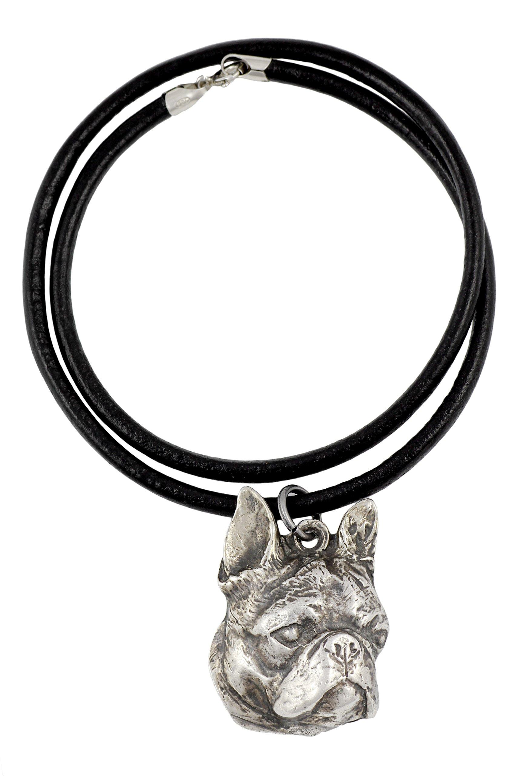 Boston Terrier, Boston Bull, American Gentlemen, Silver Hallmark 925, Dog Silver Necklaces, Limited Edition, Artdog