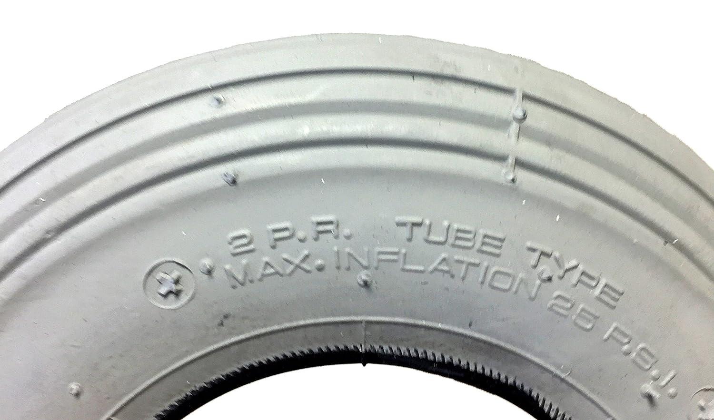CST Silla Neumáticos 200 x 50, (también 8 x 2), Gris, neumáticos con surcos (Perfil Leichtlauf, aire Impresión 25 PSI, apto para silla manual, ...