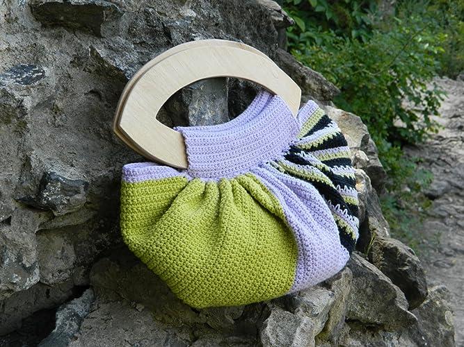 Boho Häkeln Tasche Böhmische Handtasche Baumwolle Gehäkelte