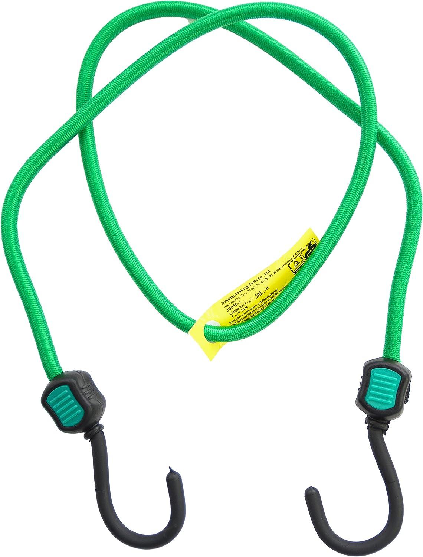 farbe: gr/ün Spannseile 4er Set Premium Qualit/ät Gep/äckspanner mit Haken 100 cm lang 8 mm Durchmesser