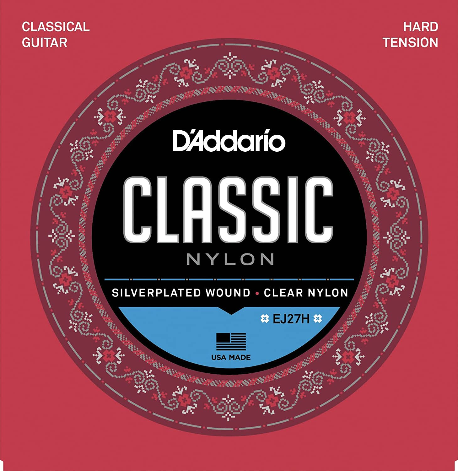 D'Addario EJ27N 1/2 Student Nylon Fractional Classical Guitar Strings, Normal Tension D' Addario