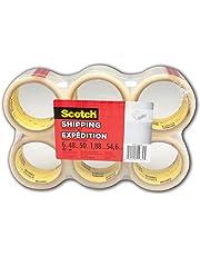 "Scotch Packing Tape, 1.88"" x 50m, 6 Rolls Shipping Tape"