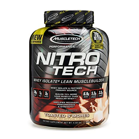 Muscletech Performance Series Nitrotech Whey Protein Peptides ...
