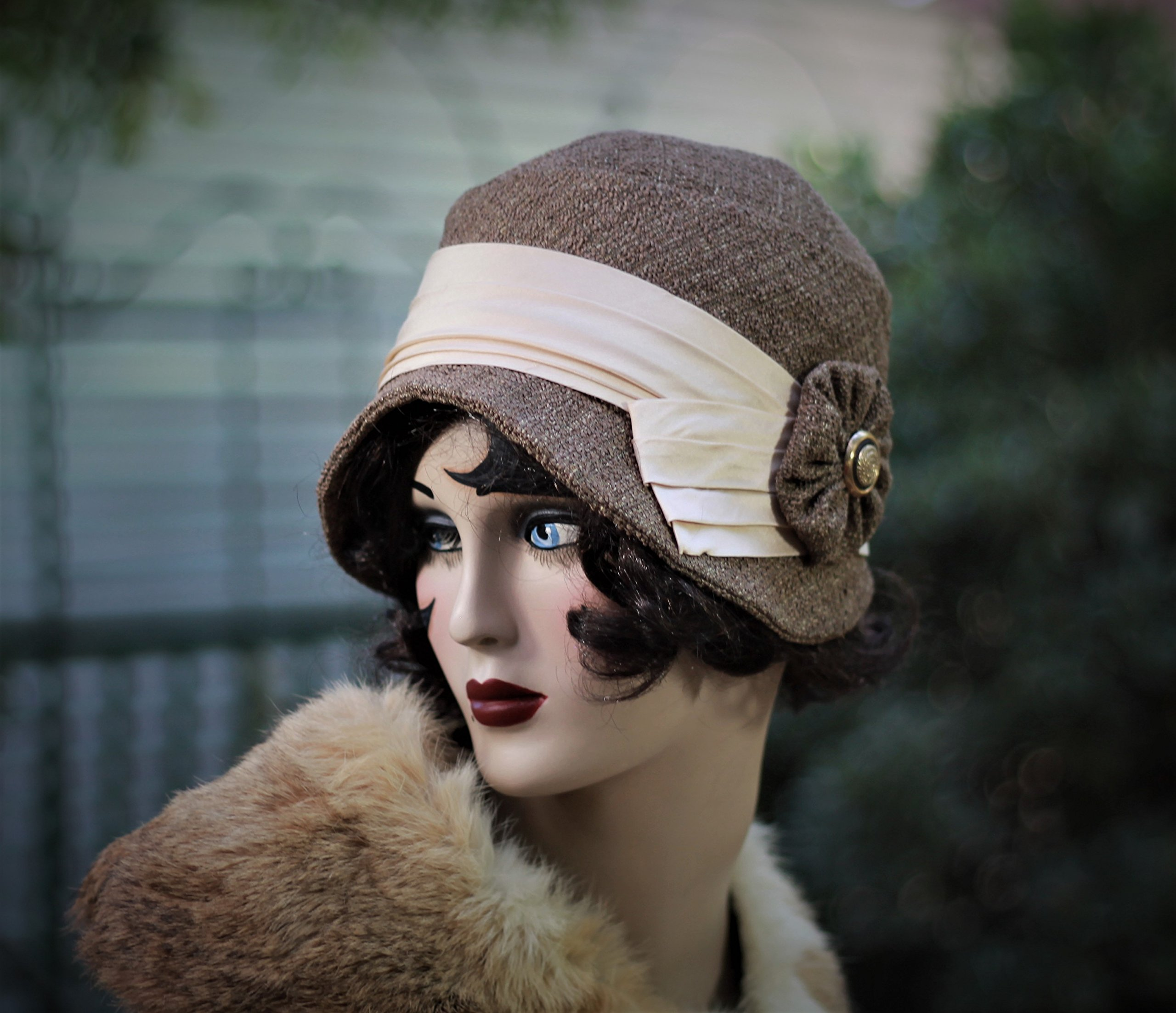 20s Vintage Style Cloche Hat, Fall, Winter, Chemo Hat