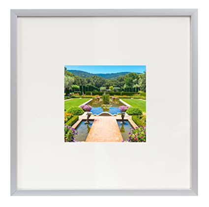 Amazon.com - Frametory, 8x8 Aluminum Silver Picture Frame - Metal ...