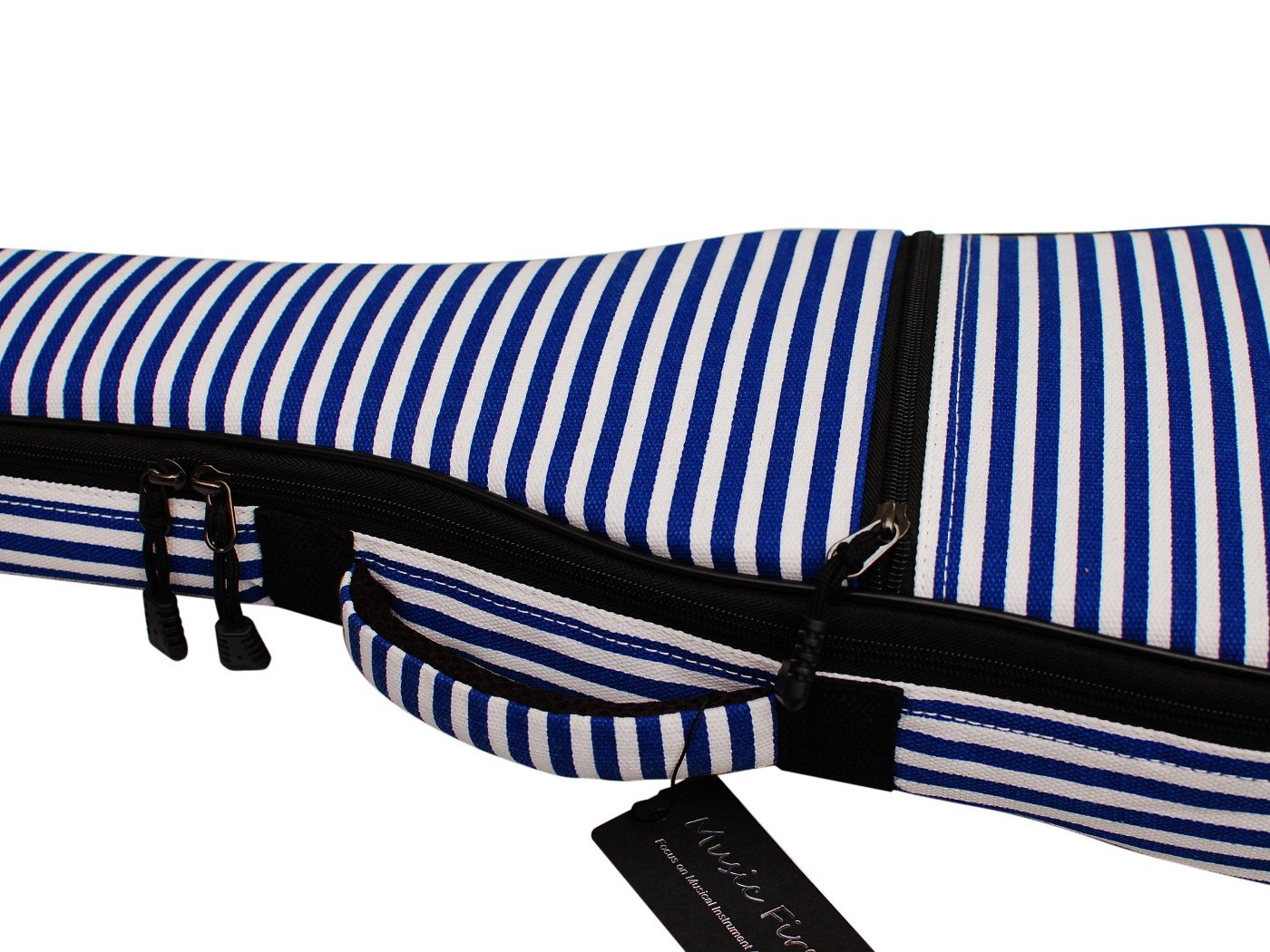 MUSIC FIRST Hand Portable 23'' Concert Cotton Canvas Blue Sailor's Striped Ukulele Bag Ukulele Cover Ukulele Case V2.0 by MUSIC FIRST (Image #5)