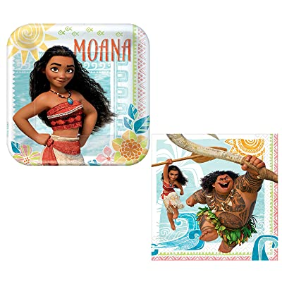 Designware Disney Princess Moana Supply Kit - Napkins and Plates: Clothing
