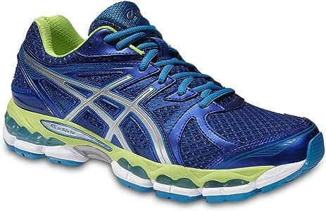 Asics - Zapatillas Deportiivas para Running Gel Glorify para Hombre - Color Azul/Blanco/Amarillo Neón - Tallas US 9-11 - Azul/Blanco/Amarillo Neón, 13 US: Amazon.es: Deportes y aire libre