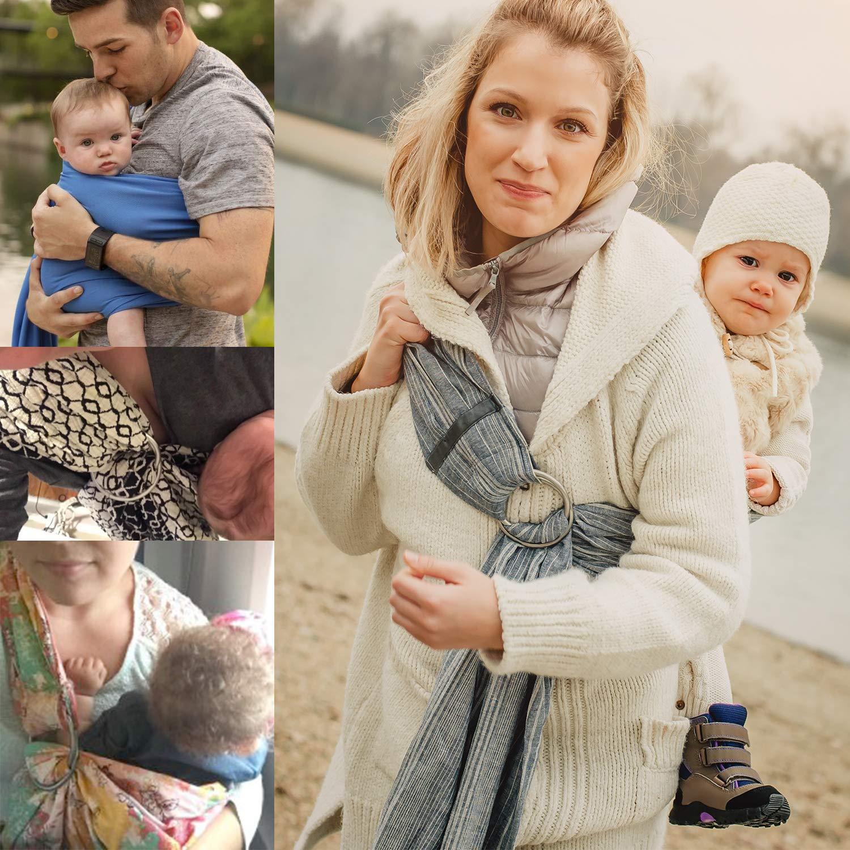 Roo Threads Aluminum Rings for Baby Slings Grey